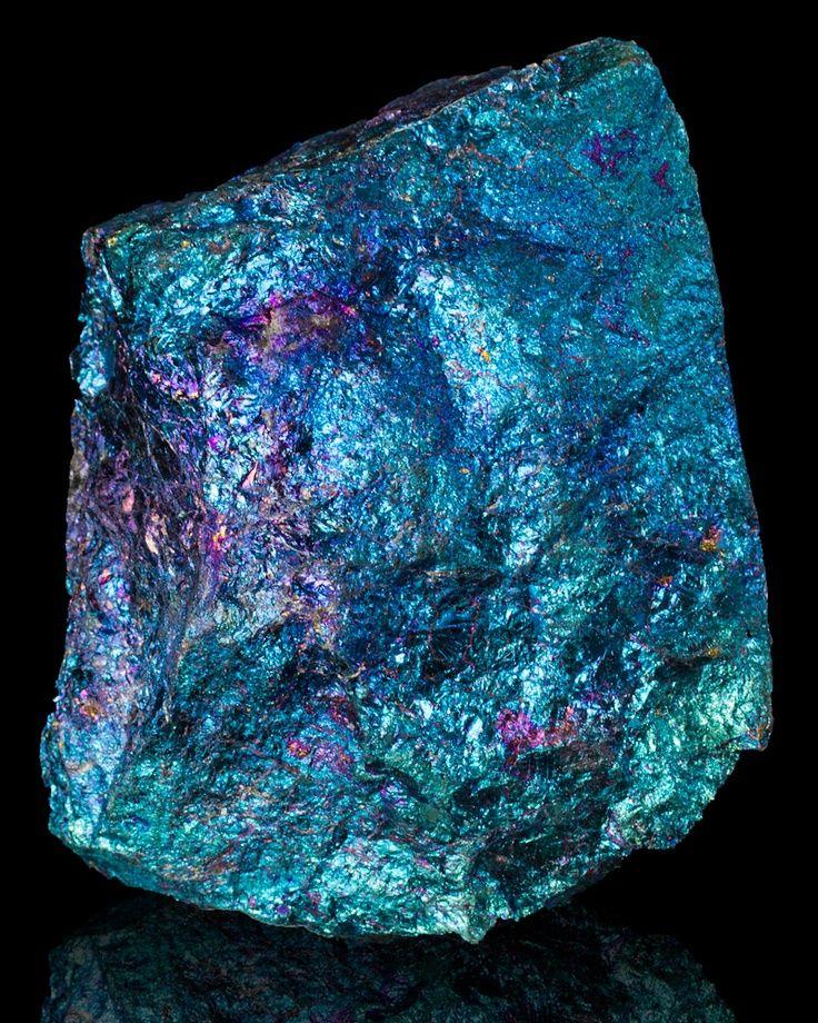 Bornite, also known as 'peacock ore', from Mexico