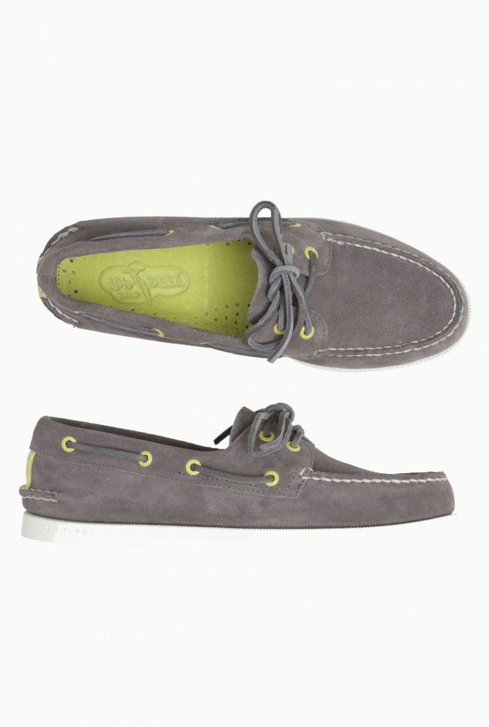 Mens Sperry Suede Deck Shoe- Gargoyle £85.00