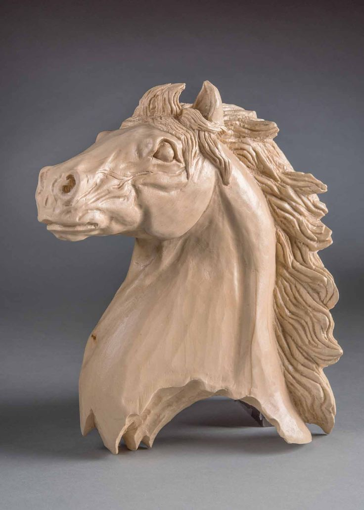 1st in Class 404 - Realistic – Other, natural or stained Horses Head Shelly Weiser - Naperville, IL 12 x 10 x 2