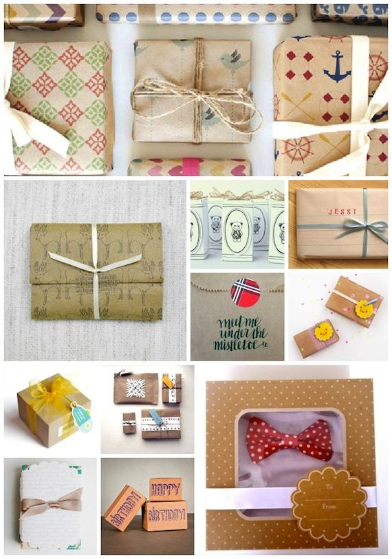 Gift Wrapping via @Etsy  Top to bottom, left to right: ToodlesNoodles, MeghannRader, gabrielefelt, cutiepiecompany, KisforCalligraphy, serveitup, LaLaShoes, leepoo, MelissaHamming, vital, Haddonco