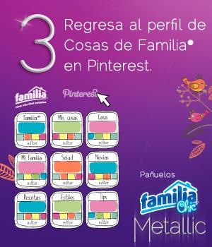 Pañuelos Familia® Chic Metalic - instrucción 3