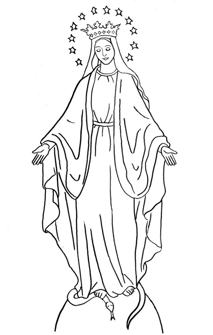 coloring page immaculate conception feast of the immaculate