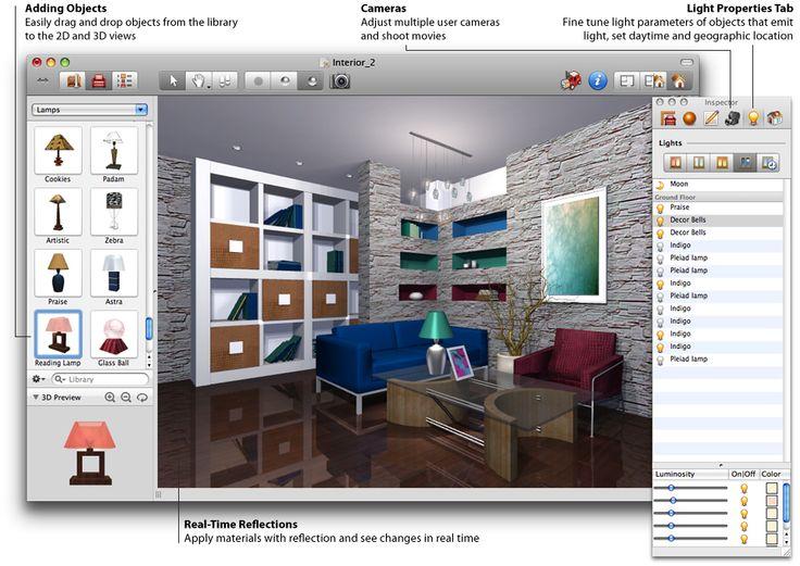 Best Free Interior Design Software 25+ parasta ideaa pinterestissä: 3d interior design software
