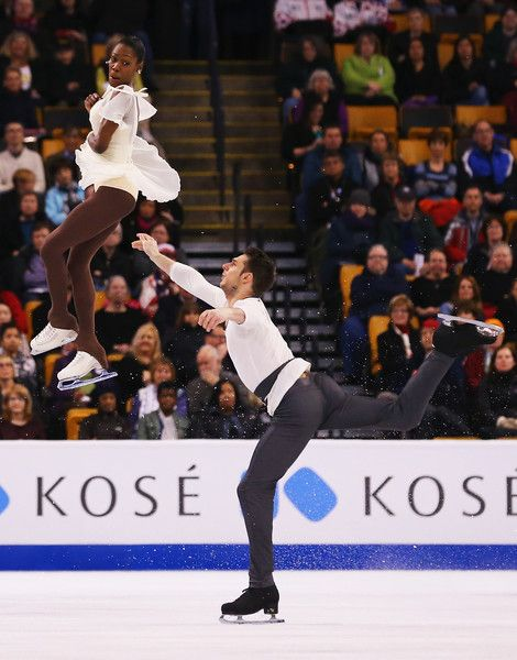 Vanessa James and Morgan Cipres of France skate in the Pairs Free Skate on Day 6 of the ISU World Figure Skating Championships 2016 at TD Garden on April 2, 2016 in Boston, Massachusetts.
