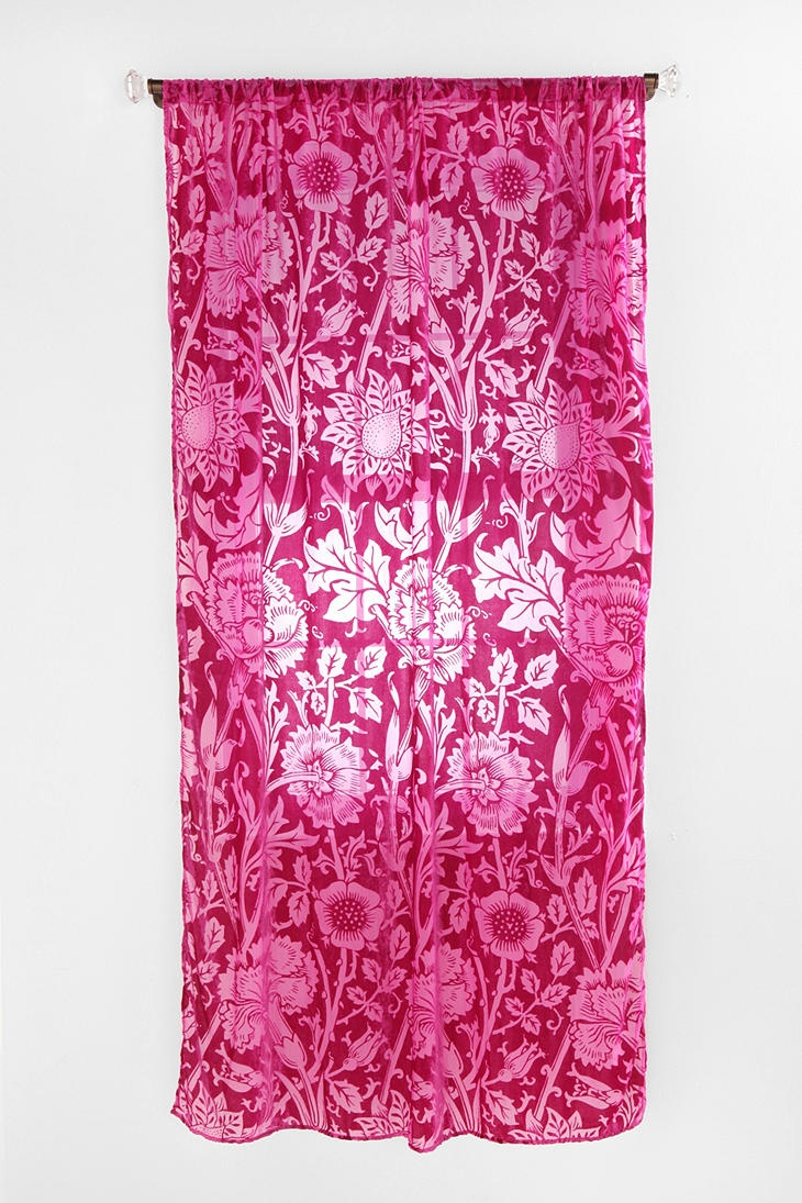 Hot pink curtains - Floral Panel Trendy And Delightful