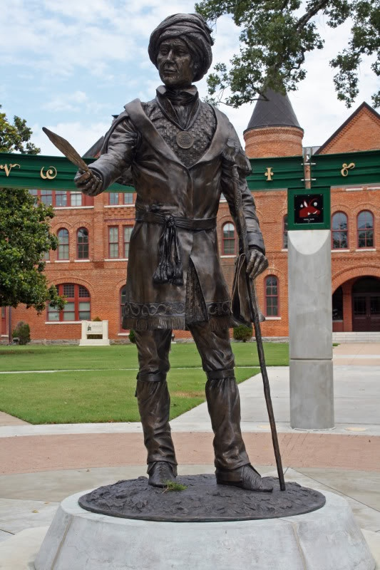 Sequoyah, Northeastern State University, Tahlequah The sculptor was in my 4th grade class.