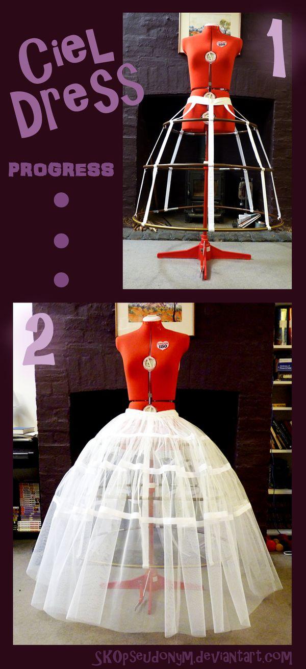 Crinoline hoop skirt