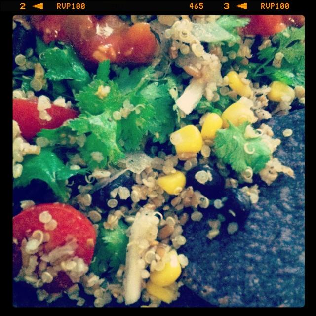 Bulgur quinoa taco salad | Recipes - Dinner | Pinterest