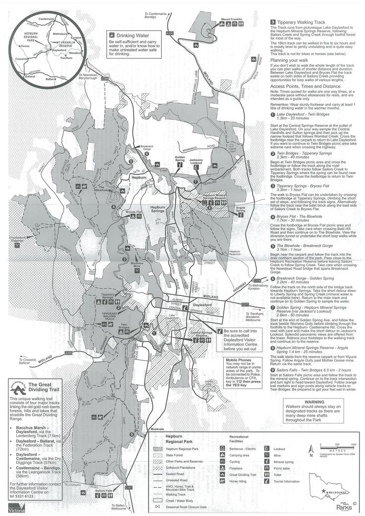 Parks Victoria: Hepburn Regional Park Visitor Guide