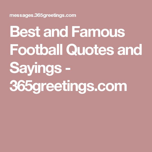 Best Football Quotes: Best 10+ Famous Football Quotes Ideas On Pinterest