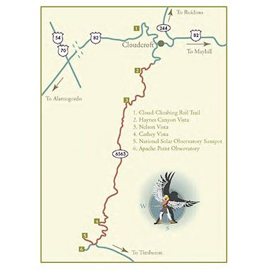 Map of Sunspot Scenic Byway - New Mexico TourismSunspots Scenic, Maps, Mexico Scenic, Mexico Tourism, Scenic Byway, New Mexico