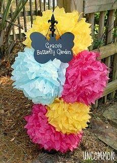 Fun birthday party idea for a little girl! Love butterflies! :)