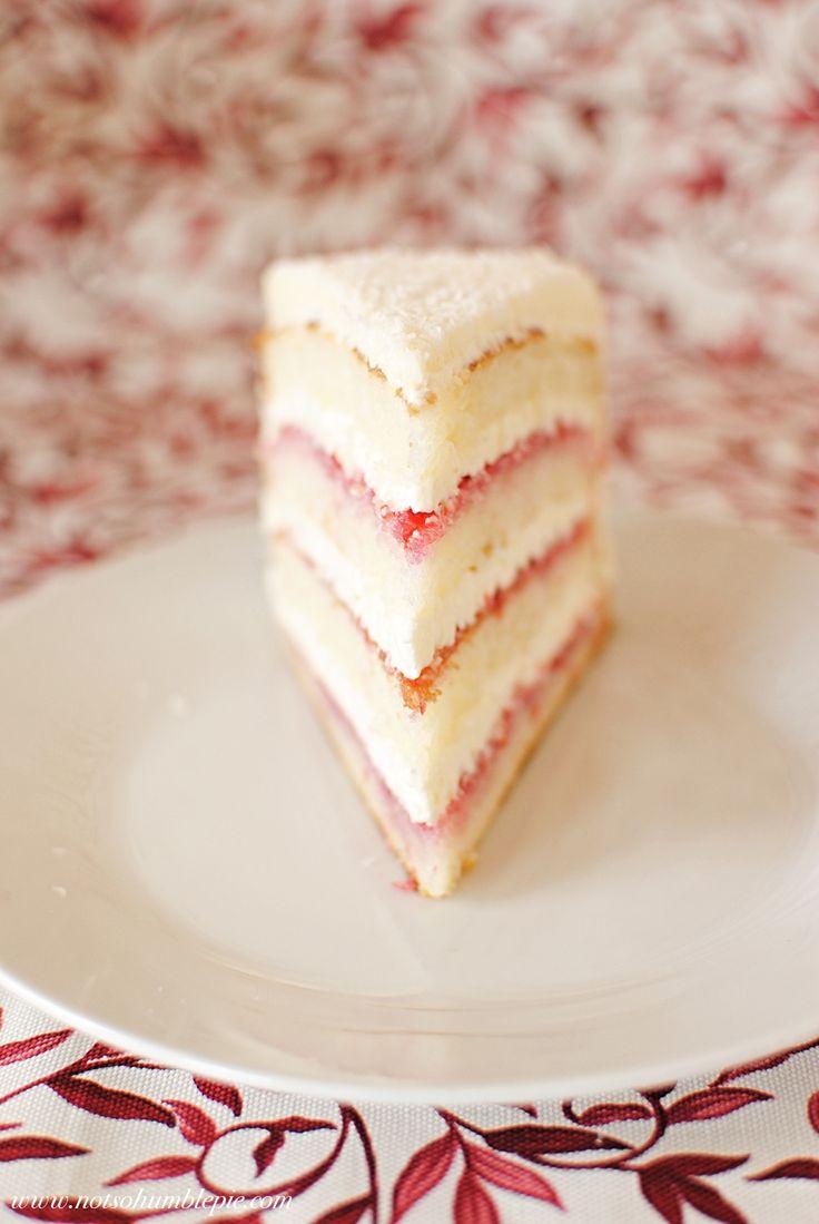 Not So Humble Pie: Raspberry Lemon Coconut Cake