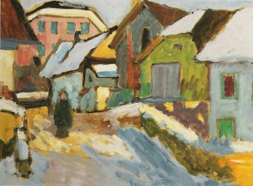 Gabriele Münter - Hof im Schnee (1911)