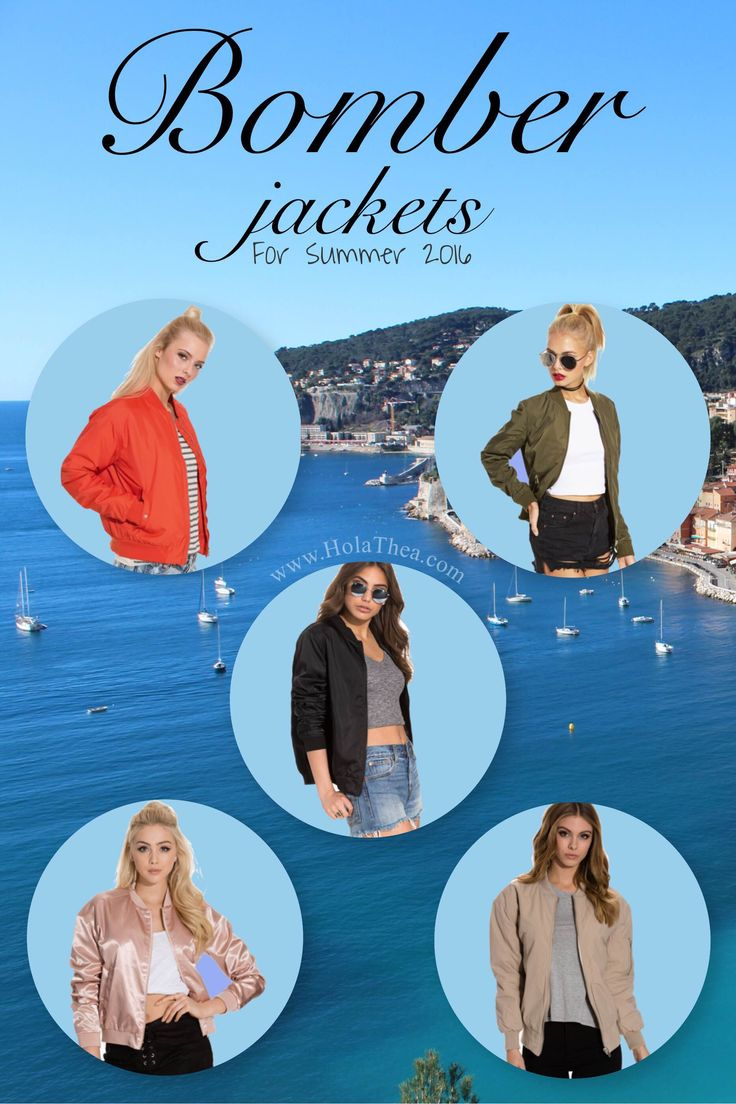 Find the most beautiful bomberjackets for this summer on www.HolaThea.com