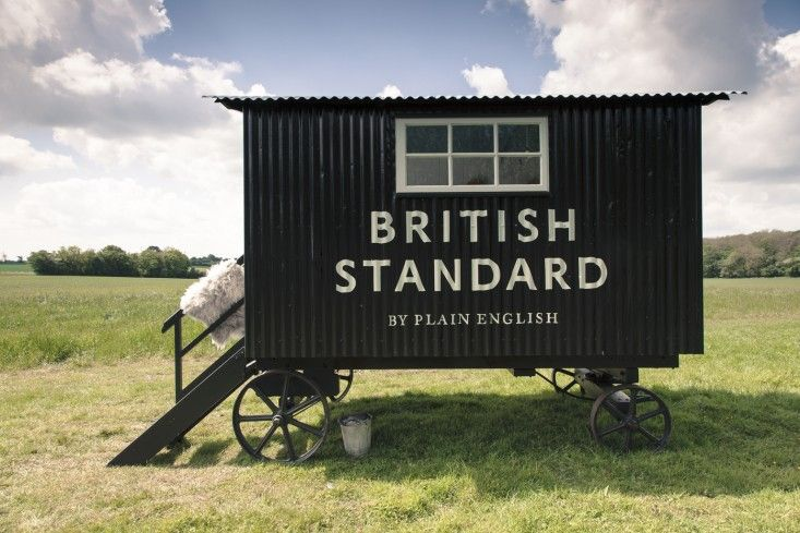 Queen of the bespoke kitchen, Katie Fontana of Plain English transforms a vintage hut into a traveling showroom for her ready-made cabinet line. We're on board.