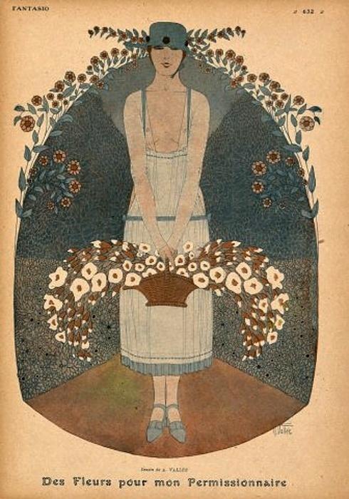 Fantasio  Art by Armand Vallee1915 Des, Dreams, Fantasio Armand, Fantasio Art, Armand Vallee, Fantasio Magazines, Armand Vallée, Divine Art Deco, Of Flower