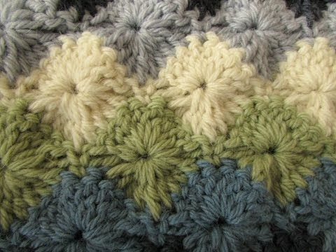 EASY crochet catherine wheel / starburst stitch blanket tutorial - part 1 - YouTube