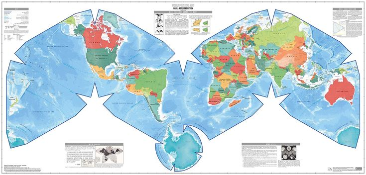 The Cahill-Keyes world #map projection poster, now avaiable for order! http://genekeyes.com/world_map_poster.html