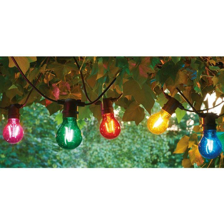 Rallonge Guirlande Lumineuse Guinguette Extensible Ampoules Verres 10 Led – Taille : Taille Unique