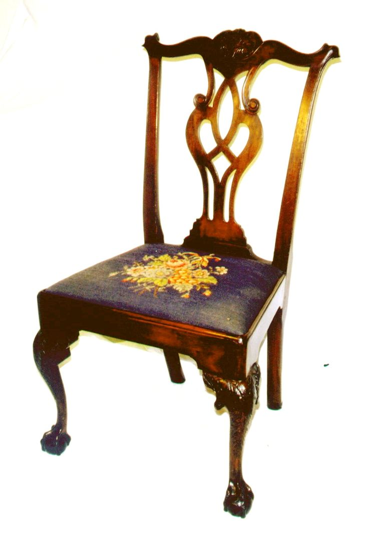 Authentic chippendale chairs - American Antique Furniture