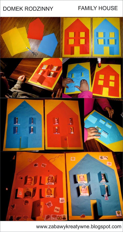Zabawy kreatywne: Domek rodzinny