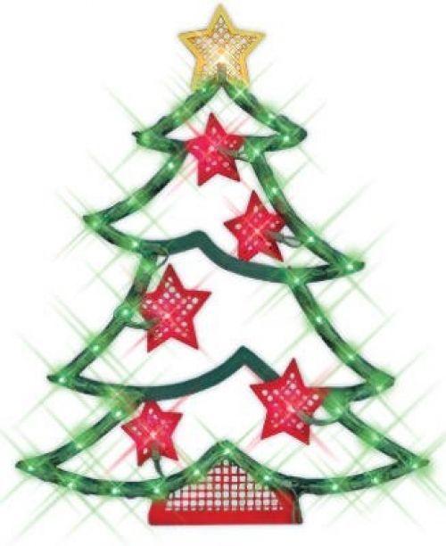 Christmas TREE Lighted Window Decor Indoor Outdoor Use Wall Door 43 Lights #ImpactInnovations