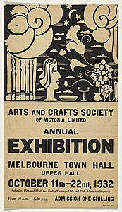Michael OCONNELL, Arts and Crafts Society of Victoria Exhibition 1932 Melbourne Town Hall
