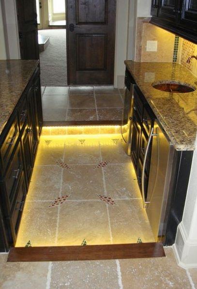 Toe Kick Lighting and Under the Cabinet Lighting by Inspired LED #LED #Floor #Lighting