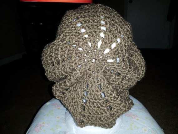 Tan Brown Slouch Beanie/Beret by MamaKatCrochet on Etsy, $10.00