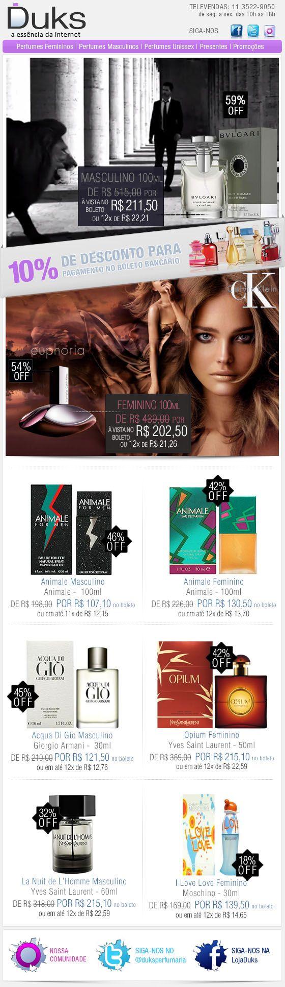 E-mail Marketing Duks Perfumes Promoção 11/01/2013 http://www.duks.com.br/sistema/custom.asp?IDLoja=11220&arq=emkt_01_11.htm&int=1&origem=emailmkt