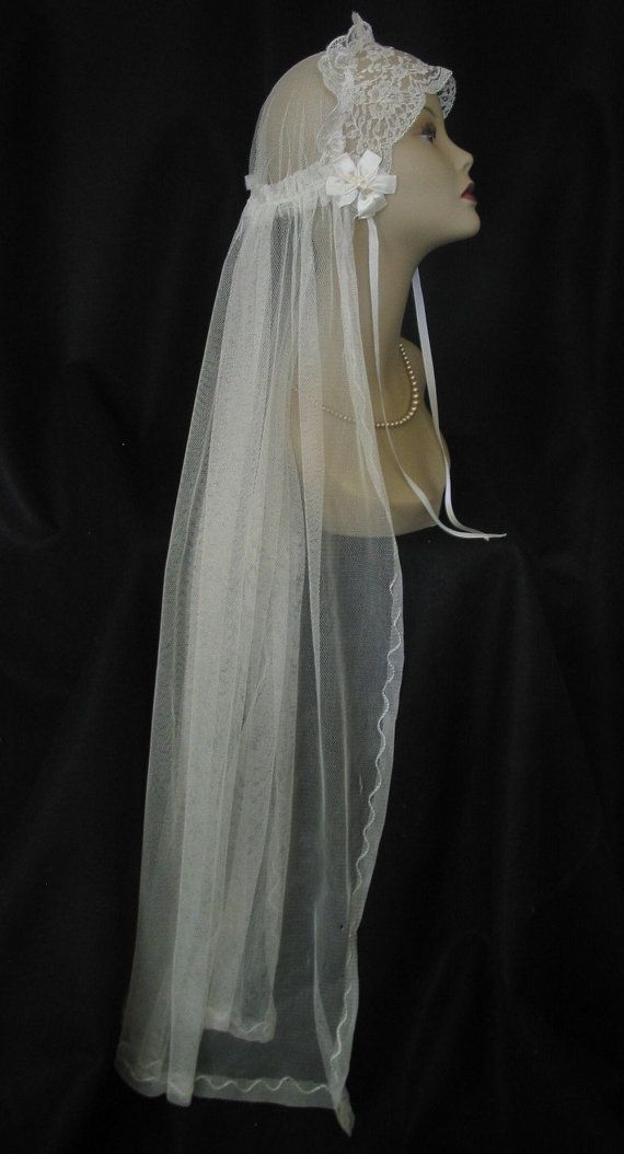 Vintage 1920s Lace Wedding Veil From By Lacesparklevintage 13500