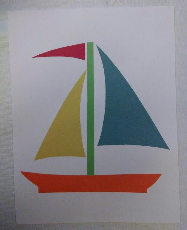 Construction Paper Sailboat Craft Pre Cut Shapes From In Various Colors