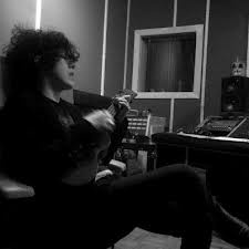 LP in the studio - wish I could be here with her...