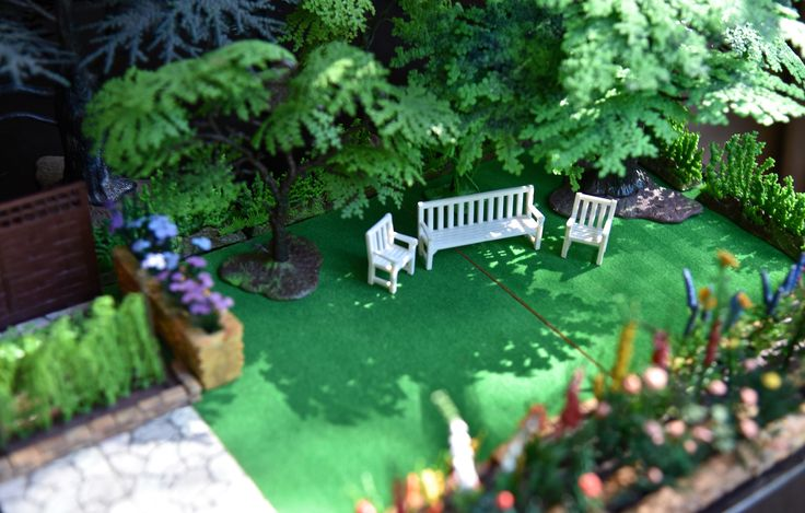 When I was a wee young thing, my favourite toy was a miniature garden produced, I have since remembered, under the brand name Britain's Floral Garden. You bought lawns, fences, flowers, rock…