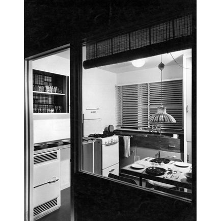 Parkleys, Ham Common, Richmond upon Thames, London: the kitchen with its…
