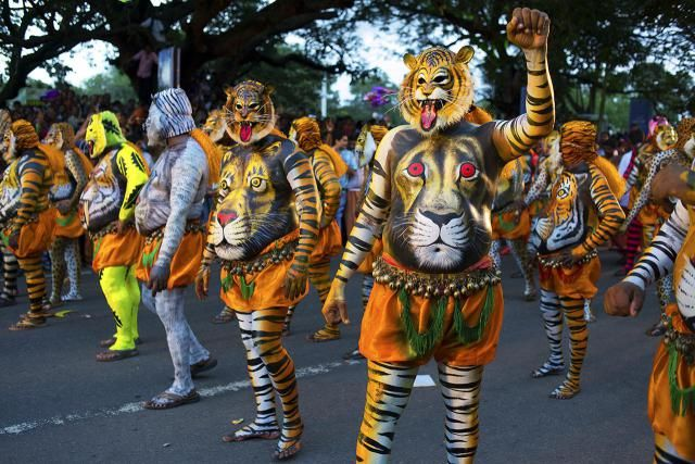 8 of the Quirkiest Festivals in India: Onam Festival Pulikkali