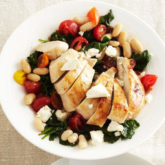 Feta Stuffed Chicken Breasts With White Bean U0026 Olive Salad + Other March  2011 Better