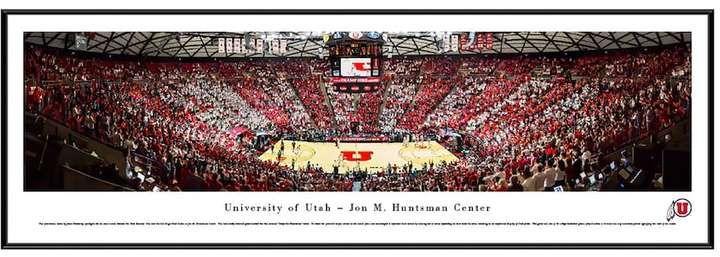 Blakeway Worldwide Panoramas Utah Utes Basketball Arena Framed Wall Art