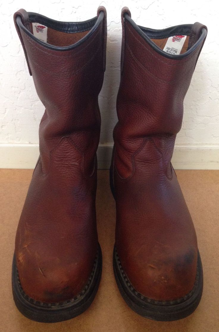 Mens 14 D Red Wing Pecos Steel Toe Pull on Work Boots | eBay