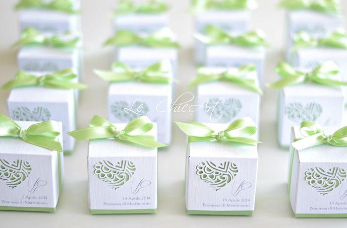 Scatolina porta confetti per promessa di matrimonio
