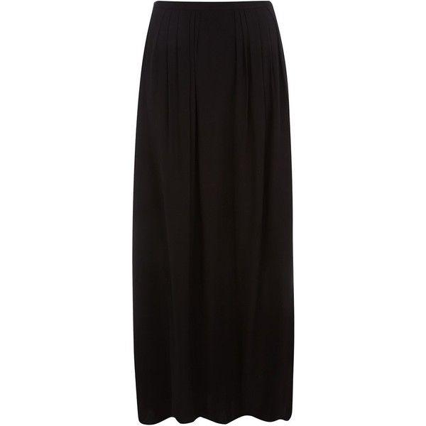 Petite Black Pleated Chiffon Maxi Skirt ($13) ❤ liked on Polyvore featuring skirts, bottoms, maxi skirts, petite, long chiffon skirt, long sequin skirts, long sequin skirt, sequin maxi skirt and petite long skirts