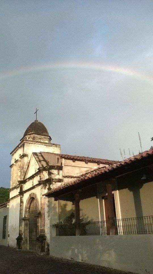 Arco iris por los cielos de Nogueras Foto: Gloria Elizondo
