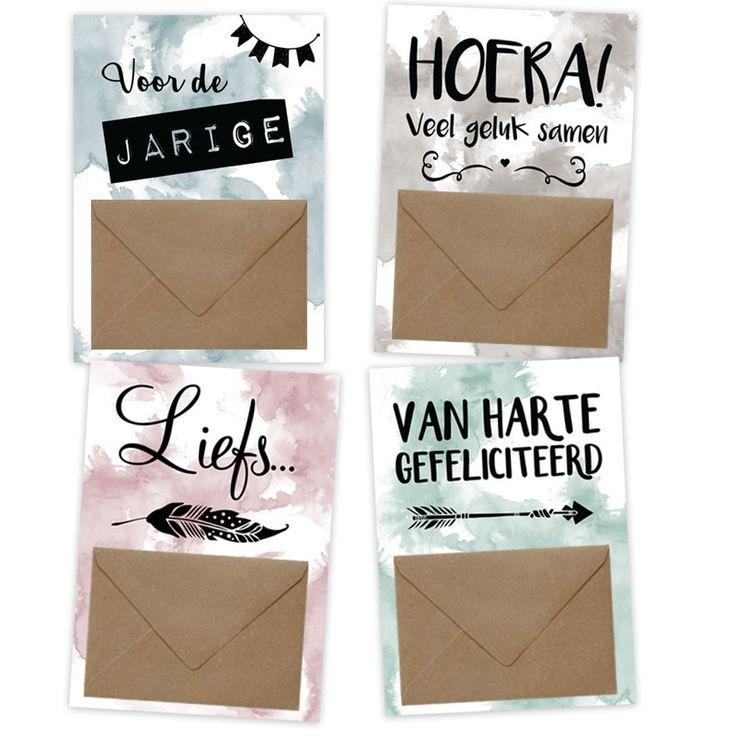 Op een leuke manier geld geven! www.hippekaartjeswinkel.nl