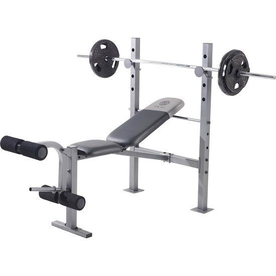 Professional Weight Bench Gold's Gym Fitness Training Incline Decline Equipment #ad