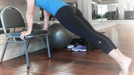 Image result for chair plank exercise