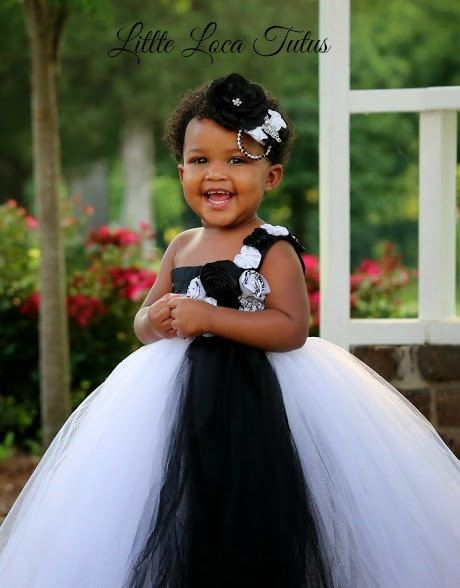 Black and white tutu dress.