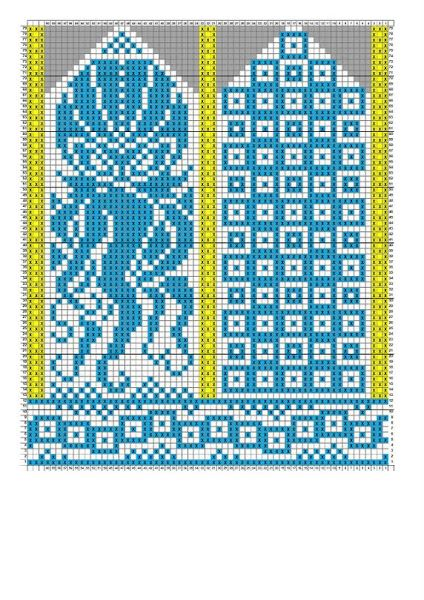 Octopus mittens pattern