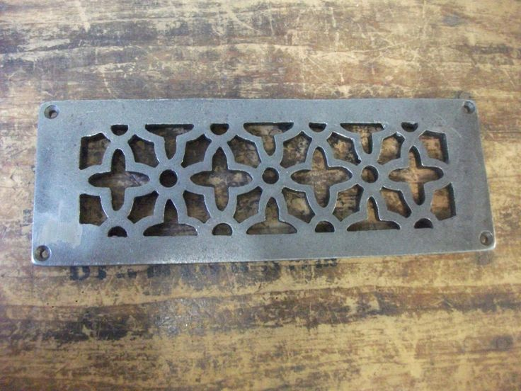 CAST IRON AIR VENT AIR BRICK GRILLE COVER - repair. these can be used inside or outside, can be used to cover a old broken air brick by just drilling and screwing it in place ( check your sizes and the hole sizes below ).   eBay!