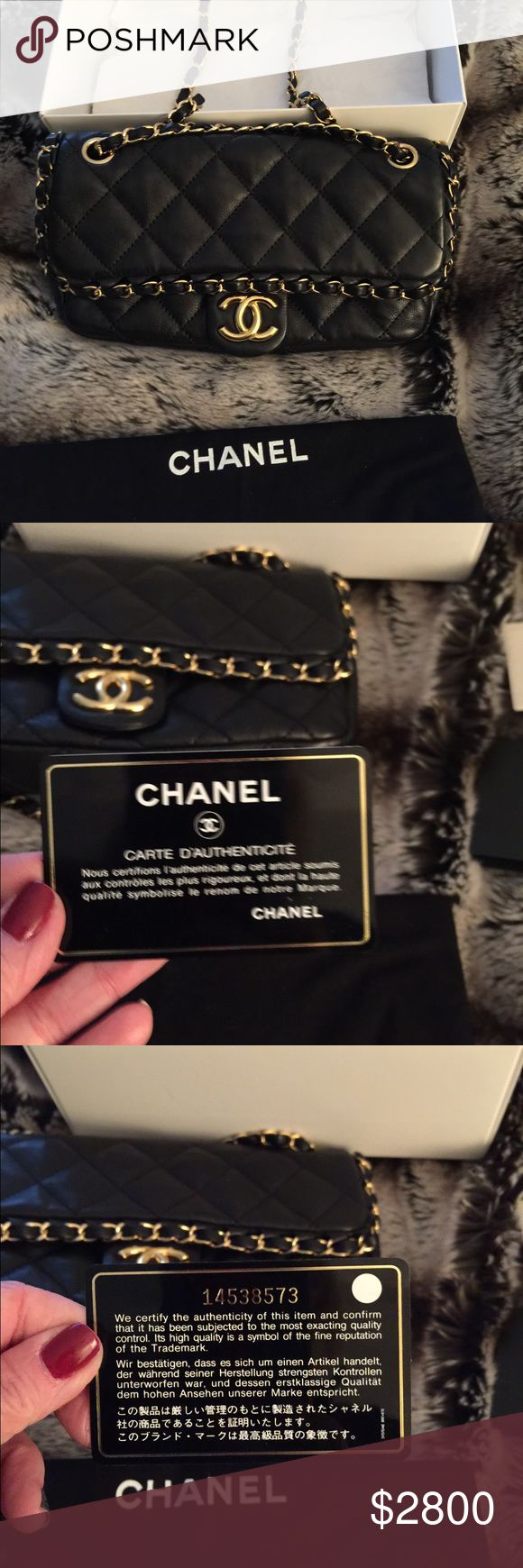 Authentic Chanel Bag! No scratches! Black leather CHANEL Bags Shoulder Bags